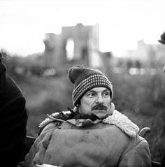"Andrei Tarkovsky on the set of ""Stalker"". 1979"