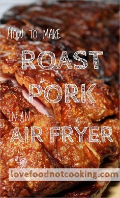 Tender air fryer roast pork loin - simple and delicious. Air frying pork loin is a great option, quick and easy, and gives great results due to the high heat of the air fryer. Air Fryer Recipes Pork, Pork Roast Recipes, Air Frier Recipes, Air Fryer Dinner Recipes, Sauce Pizza, Low Carb Brasil, Air Fried Food, Love Food, Cookies Et Biscuits