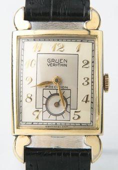 1930s Gruen Elegant Ladies Rose Gold Watch Art Deco