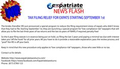 American Expat Tax Relief!     Starting September 1st!    #expats #ustaxabroad  Expats #tax
