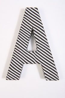 'A' fabric wall letter