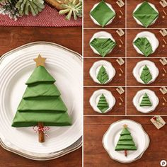 Christmas Tree Napkins - The Best Christmas Table Setting Decorations | Holiday Home Decor