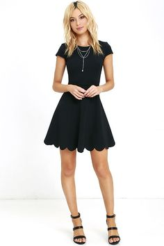 Proof of Perfection Black Skater Dressat Lulus.com!