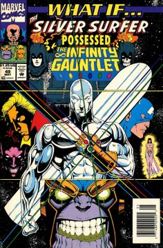 """What If...? V2 #49 - """"What if the Silver Surfer Possessed the Infinity Gauntlet?"""""""