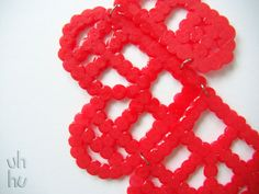 I'm in love =D  My geeky red collar by UHHU on Etsy, €15.00