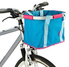 Bike Handlebar Bags - Schwinn Folding Handlebar Bag BluePink -- Click on the image for additional details.