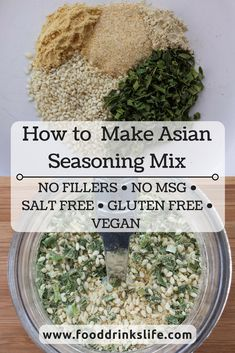If you haven't noticed, a lot of my food is Asian inspired. So I made an Asian spice mix to make our lives easier in the future! Homemade Spice Blends, Homemade Spices, Homemade Seasonings, Spice Mixes, Soup Mixes, Stir Fry Seasoning, Asian Seasoning, Seasoning Mixes, Spice Combinations