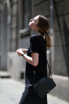 T-SHIRT BLACK DRESS - FashionMugging
