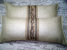 #Burlap #pillows