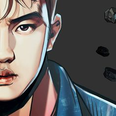 "graphic illustration by Frank Studio from ""The War"" album // #exo #comeback #kokobop #thewar #d.o. #kyungsoo"