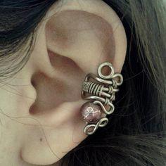 Purple Cocoa Ear Cuff by Jynxsbox on Etsy
