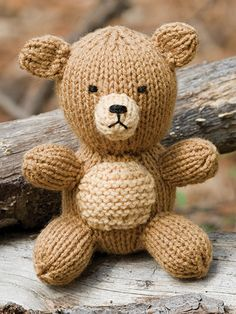Knitting - Patterns for Children & Babies - Stuffed Animal & Toy Patterns - Teddy Bear