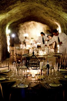 Oh Man Our Candles Would Look So Great In This Wine Cellar Reception