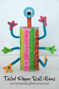 Toilet Paper Roll Craft Aliens