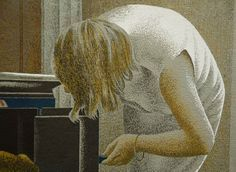 Oil on linen. Alex Colville, Canadian Painters, Canadian Artists, Yarn Painting, Figure Painting, East Coast Canada, Magic Realism, Bachelor Of Fine Arts, Country Artists