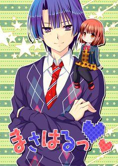 Ayamisiro, Uta no☆prince-sama♪, Nanami Haruka, Hijirikawa Masato, Star Background, Crossed Arms