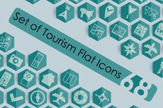 68 Tourism Flat Icons