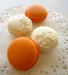 Orange and white macaroons #witcherywishlist