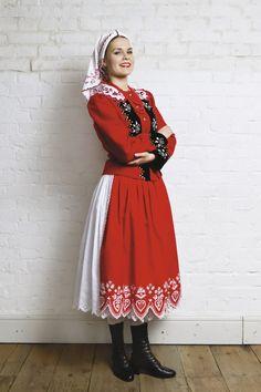 Polish Folk Costumes / Polskie stroje ludowe — A few examples of Polish regional dresses :) . Polish Clothing, Folk Clothing, Historical Clothing, Poland Costume, Polish Embroidery, Folk Embroidery, Polish Holidays, Folklore, Authentic Costumes