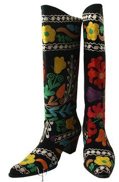 hand stitched Suzani Boot
