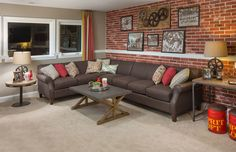 Finished Bonus Room is a Fun Hang Out Space. Dominion Homes, The Aberdeen
