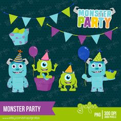 Monsters Inc Party Designs Monster University Birthday, Monsters Inc University, Monster Inc Birthday, Monster Party, Festa Monster High, Monsters Inc Doors, Monsters Inc Baby, Third Birthday, 4th Birthday Parties