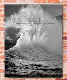 Look what I found on #zulily! 'Integrity' Canvas by Evergreen #zulilyfinds