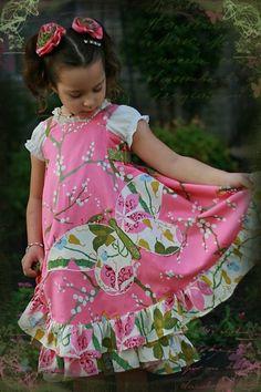 Butterfly Euro Dress Boutique Custom Size 2-8 by richelleleanne