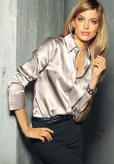 Plus Size Sateen Blouse | Plus Size Shirts & Blouses | Jessica London