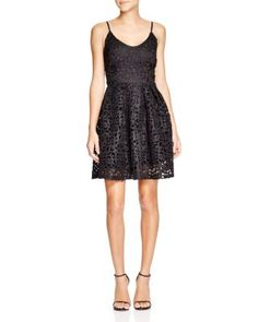 Lucy Paris Sleeveless Cut Out Detail Fit and Flare Dress | Bloomingdale's