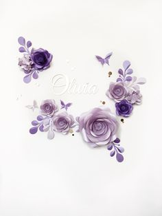 Paper Flower Kit  Paper Flower Backdrop  Nursery by MioPaperArt