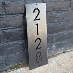 House Address Sign, Address Plaque, Address Signs, House Address Numbers, Metal House Numbers, House Number Plaque, House Numbers Modern, Outdoor Signs, Metal Homes