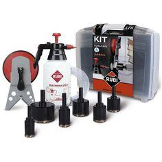 Kit foragres es una herramienta profesional para hacer preforaciónes en gres porcelánico y dejar unos acabados de lujo. www.materialespujante.com