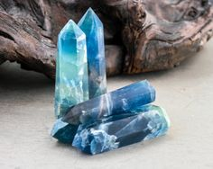 Magical Rare Blue Fluorite point 3  3.5   Aura by LANDandSPIRIT