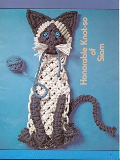 Vintage Macrame Book 70s Retro Animals to by SydneyVintageFinds, $10.00