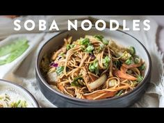 soba noodle salad with chicken and sesame Noodle Recipes, Rice Recipes, Asian Recipes, Cooking Recipes, Ethnic Recipes, Japanese Recipes, Soba Noodles, Pasta Noodles, Delicious Vegan Recipes