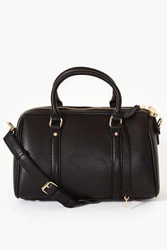 Parker black bowler bag, $68