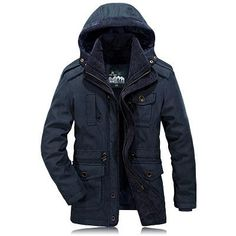 Jackets & Coats Motivated New Winter Fur Collar Hooded Parkas Men Thicken Cotton Padded Jacket Top Quality Multi-pocket Snow Warm Windproof Coats Male Parkas