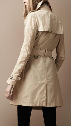 Mid-Length Lightweight Technical Fabric Trench Coat | Burberry