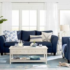 Coastal Coffee Tables... http://www.completely-coastal.com/2017/06/simple-stylish-coffee-tables-for.html A selection of coffee tables that is perfect for those who love the sea. From coastal theme coffee tables to white and blue tables to a rattan storage coffee table!