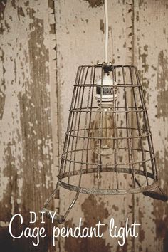 DIY Home Decor •• French Flair! •• Great Ideas & Tutorials. Including this amazing french style diy cage pendant light from 'whipperberry'.