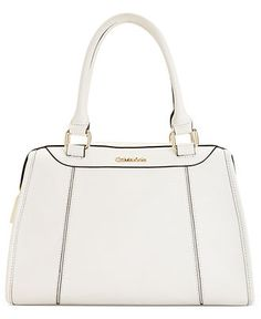 White-hot! Calvin Klein, Geneva Quilted Leather Satchel #handbag ...