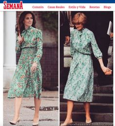 La similitud con el estilo de la princesa Diana se hizo evidente y los medios hicieron la comparación entre Diana de Gales y la duquesa de Cambridge.