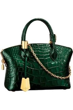 If I had the money...Louis Vuitton green croc bag