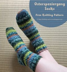 Osterspaziergang Socks - Free Knitting Pattern by Knitting and so on