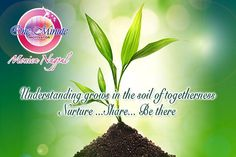 Understanding grows inthe of togetherness nurture... Share..be there