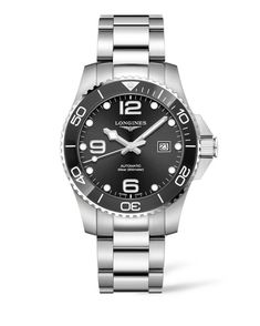 New Longines HydroConquest Automatic Bracelet Watch, Mens accessories. Fashion is a popular style Longines Hydroconquest, Breitling, Longines Watch Men, Stainless Steel Watch, Stainless Steel Bracelet, Luxury Watches, Watches For Men, Men's Watches, Nice Watches