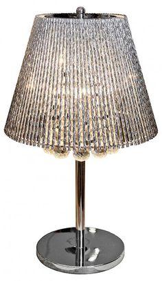 Febland Silver Tube Shade Table Lamp £138.00