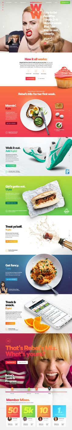 Weightwatchers landing page concept