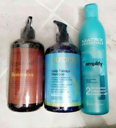 Majestic pure Argan oil shampoo 16 oz / Pure d'or Scalp therapy shampoo 16 oz / Matrix conditioner. 13.5 oz. All new